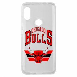 Чехол для Xiaomi Redmi Note 6 Pro Большой логотип Chicago Bulls