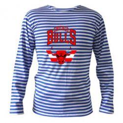 Тельняшка с длинным рукавом Большой логотип Chicago Bulls - FatLine