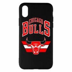 Чохол для iPhone X/Xs Великий логотип Chicago Bulls