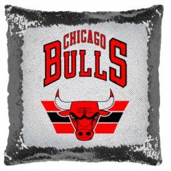 Подушка-хамелеон Великий логотип Chicago Bulls