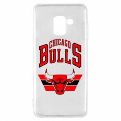Чохол для Samsung A8 2018 Великий логотип Chicago Bulls
