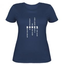 Жіноча футболка Bones text