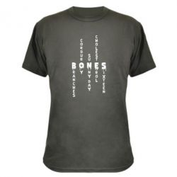 Камуфляжна футболка Bones text