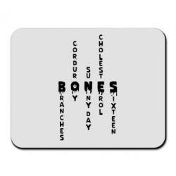 Килимок для миші Bones text