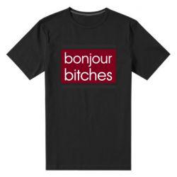 Мужская стрейчевая футболка Bonjour bitches