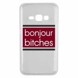 Чехол для Samsung J1 2016 Bonjour bitches