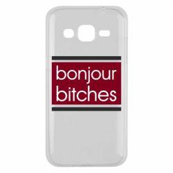 Чехол для Samsung J2 2015 Bonjour bitches