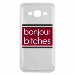 Чехол для Samsung J5 2015 Bonjour bitches