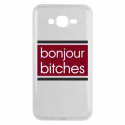 Чехол для Samsung J7 2015 Bonjour bitches
