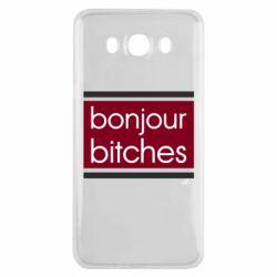 Чехол для Samsung J7 2016 Bonjour bitches