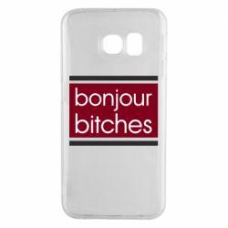 Чехол для Samsung S6 EDGE Bonjour bitches