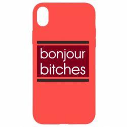 Чехол для iPhone XR Bonjour bitches