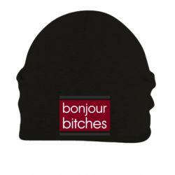 Шапка на флисе Bonjour bitches