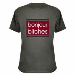 Камуфляжная футболка Bonjour bitches