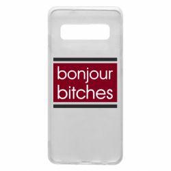 Чехол для Samsung S10 Bonjour bitches