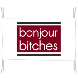 Флаг Bonjour bitches