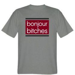 Мужская футболка Bonjour bitches
