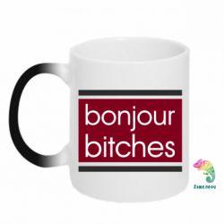 Кружка-хамелеон Bonjour bitches