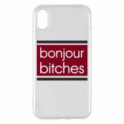 Чехол для iPhone X/Xs Bonjour bitches