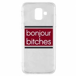Чехол для Samsung A6 2018 Bonjour bitches