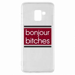 Чехол для Samsung A8+ 2018 Bonjour bitches