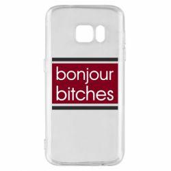 Чехол для Samsung S7 Bonjour bitches