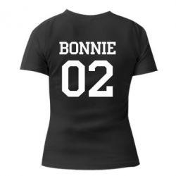 Женская футболка с V-образным вырезом Bonnie 02