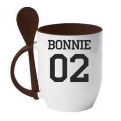 Кружка з керамічною ложкою Bonnie 02