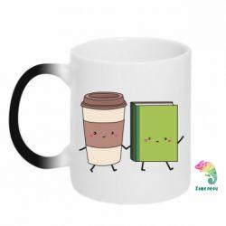 Кружка-хамелеон Book & Coffee