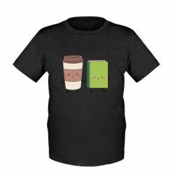 Детская футболка Book & Coffee