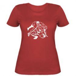 Женская футболка Борцы