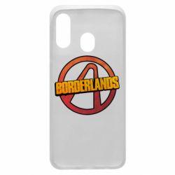 Чехол для Samsung A40 Borderlands logotype