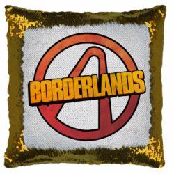 Подушка-хамелеон Borderlands logotype