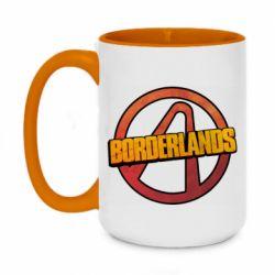 Кружка двухцветная 420ml Borderlands logotype
