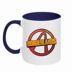 Кружка двухцветная 320ml Borderlands logotype