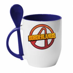 Кружка с керамической ложкой Borderlands logotype