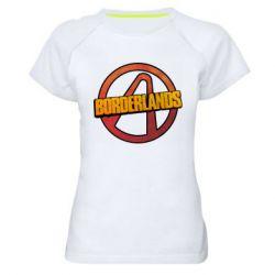 Женская спортивная футболка Borderlands logotype