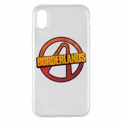 Чехол для iPhone X/Xs Borderlands logotype