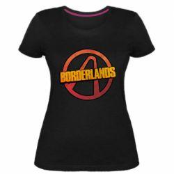 Женская стрейчевая футболка Borderlands logotype