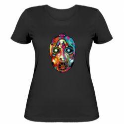 Женская футболка Borderlands mask in paint