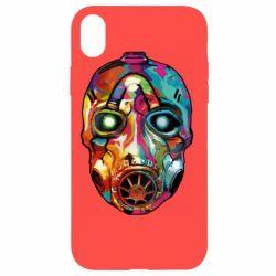 Чехол для iPhone XR Borderlands mask in paint