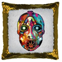 Подушка-хамелеон Borderlands mask in paint