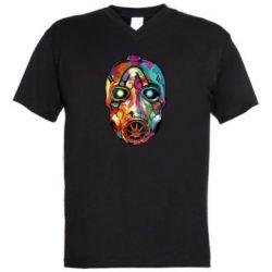 Мужская футболка  с V-образным вырезом Borderlands mask in paint