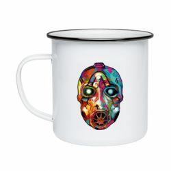 Кружка эмалированная Borderlands mask in paint