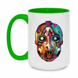 Кружка двухцветная 420ml Borderlands mask in paint