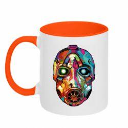 Кружка двухцветная 320ml Borderlands mask in paint