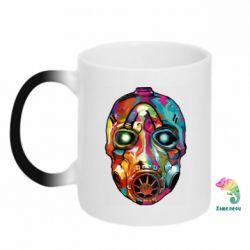 Кружка-хамелеон Borderlands mask in paint