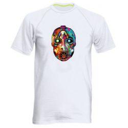 Мужская спортивная футболка Borderlands mask in paint