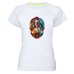 Женская спортивная футболка Borderlands mask in paint
