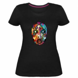 Женская стрейчевая футболка Borderlands mask in paint